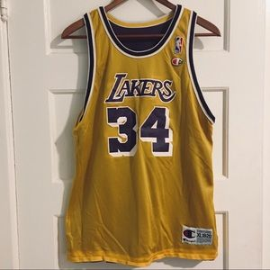 NBA Champion Jersey #34 Shaquille O'Neal No Flaws
